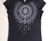 Ice Gray Solar Storm printed on a Midnight Navy 100% Cotton Screen Printed T-Shirt