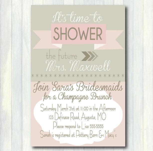 Mimosa Brunch Invitations as best invitation template