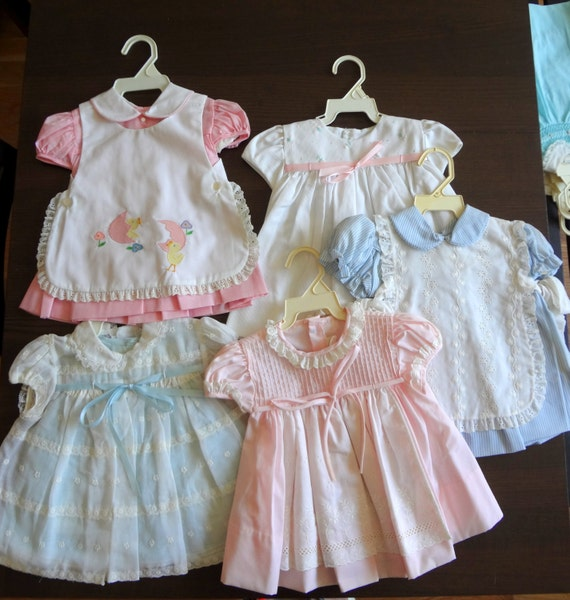 Items Similar To Vintage Wholesale Lot Baby Girls Dresses