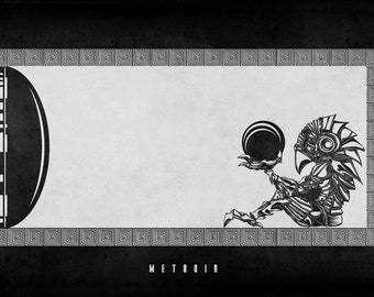 Metroid - Chozo Statue - signed museum quality giclée fine art print