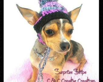 Multi color Dog Hats - Cat Hat - Pet Hat - Dog beanie - Photo Prop - Hand Crochet - Made To Order