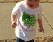 Personalized St. Patrick's Day Girl's Shamrock Shirt or Bodysuit