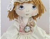 Beth a hand crafted rag doll
