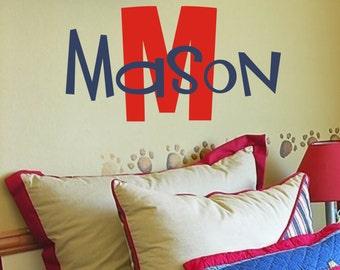 Custom Children's Vinyl Name Decal - Nursery and Bedroom Vinyl Wall Art - Boy & Girl Vinyl Lettering