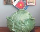 Magolica Cabbage Or Lettuce Covered Jar