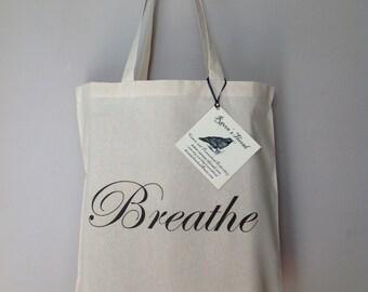 Yoga Breathe Tote Bag Cotton Canvas