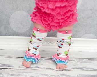Leg Warmers,Cupcake Leg Warmers, Baby Leg Warmers, Toddler Leg Warmers, Girls Leg Warmers