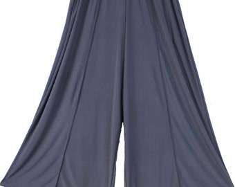 Plus Size lagenlook Palazzo Pants in Gray color Size 1 fits 1XL,2XL Size 2 fits 3XL,4XL