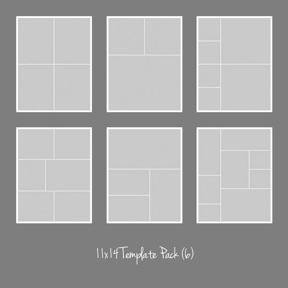 photo collage number templates - 11x14 photo template pack collage photographers storyboard