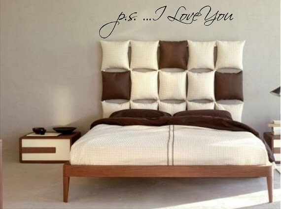 large girls bedroom vinyl wall decal p s i love you. Black Bedroom Furniture Sets. Home Design Ideas