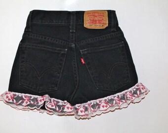 VTG Toddler Levi's Ruffle Trim Shorts