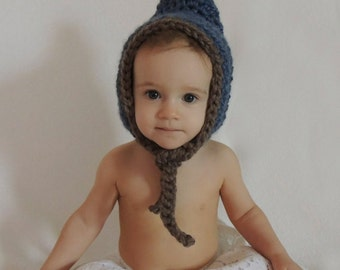 Crochet Chunky Pixie Bonnet - 0 to Adult Size - PATTERN ONLY