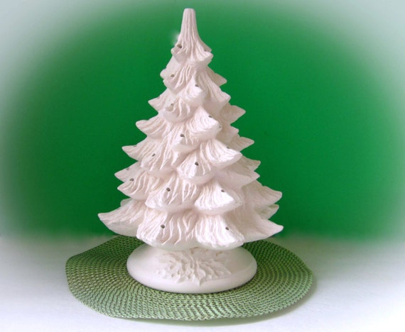 Bisque Christmas Tree