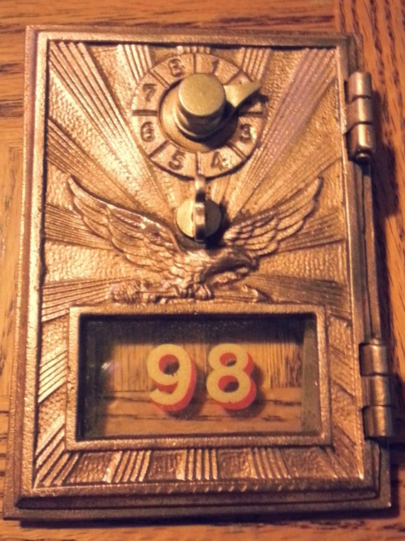 Antique Post Office Box Door Size no1 Flying Eagle Style 1920s Cardiff, MD U.S Bank Door