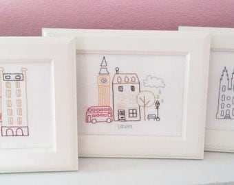 My Favorite Cities PDF embroidery pattern