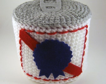 Beer can toilet paper roll cover