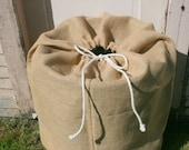 Burlap Keg Bag -  Rustic country wedding decor