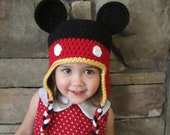 Adult Mickey/Minnie Earflap Hats