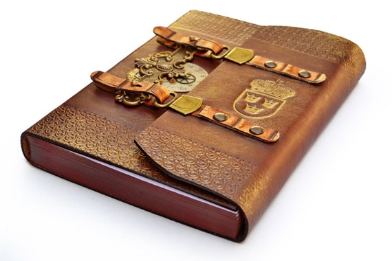 Steampunk leather journal in gift box