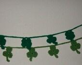 50 Inch Hand Crochet Saint Patrick's Day Shamrock Garlands