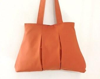 Handbags Cotton bag Canvas bag diaper bag Shoulder bag Hobo bag Tote bag Purse Everyday bag Double Straps Burnt Orange Diana