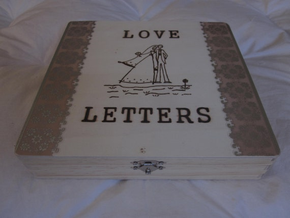 Personalized wedding love letter ceremony box customizable for Love letter wedding ceremony