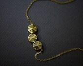 Take 10% Off Black Gold Necklace Geometric Necklace Circles Necklace Gold Disc Necklace by Mica - Amity