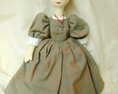Jane Eyre, a soft sculpted, literary figure doll