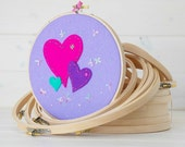 """Embroidery Hoops - 7-pack Bundle - 3"""", 4"""", 5"""", 6"""", 7"""", 8"""" & 9"""" - Bundle Wooden Embroidery Hoops - One of each size - Needle Craft Hoops"""