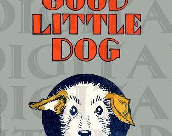 A Little Dog. Vintage Puppy  ILLUSTRATION. Dog Digital DOWNLOAD. Digital Dog Print