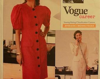 "Dress by Nipon Boutique - 1980's - Vogue Career Pattern 2302 Uncut   Size 10  Bust 32.5 """