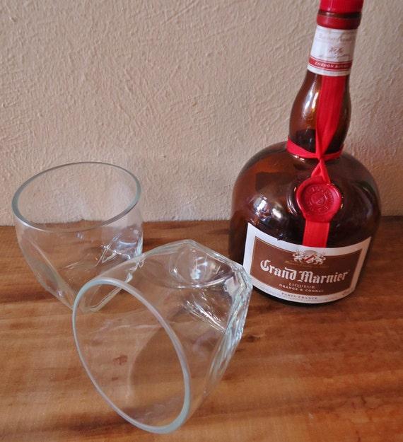 RARE Two Gautier Cognac Rocks Glasses Set