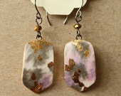 Birdsong - Small Handmade Watercolor Paper Earrings