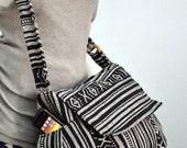 Nepali hippie style handbag, Cross body bag, Boho, Bohemian bag, Shoulder bag, Sling bag, Messenger bag, Purse MM102