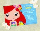 Little Mermaid Printable Invitation