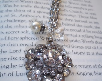 All that glitters upcycled rhinestone necklace