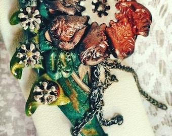 Steam Punk Flower Pendant