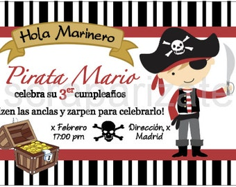 Pirate Birhtday's invitation