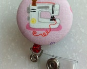 Retractable ID Badge Holder (XL) Size - I love sewing
