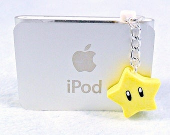 Super Mario Invincibility Star Dust Plug Charm, For iPhone or iPod, Power Up, Cute, Kawaii :D