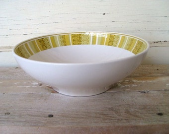 Serving Bowl, 1960s Mod Franciscan Ware Serving Bowl, Antigua Pattern, Mid Century Vegetable Bowl, Whitestone Ware Bowl, Retro Kitchen