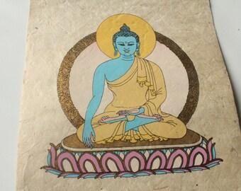 Wall Hanging Buddha Akshobhya  Handmade Lokta Paper