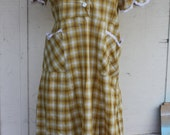 1960's House dress plaid
