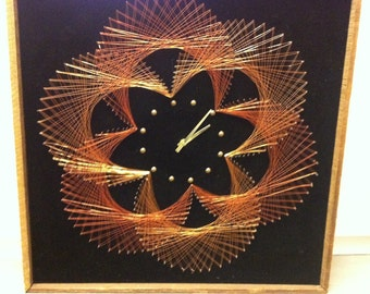 copper sunburst clock brutalist sculptural brass wood unique 1970s statement mad men george nelson curtis jere