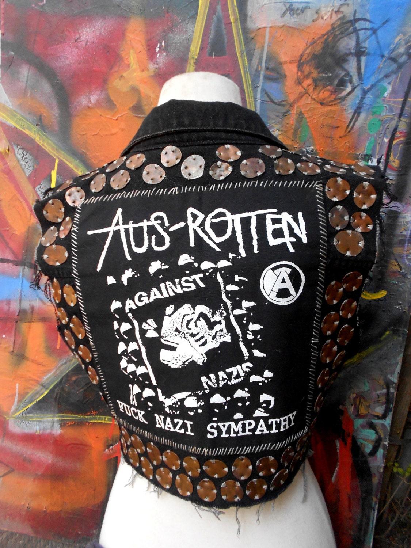 Crust Punk Aus Rotten Smashed Penny Vest