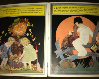 The Children's Picture Book 1929 ~ Frame Worthy Chromolithography ~