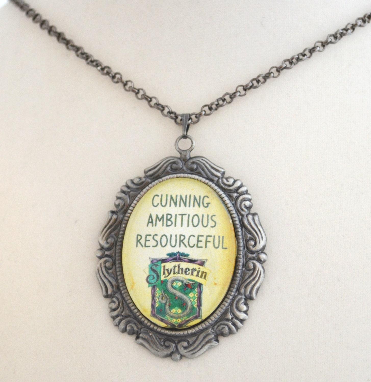 harry potter slytherin necklace hogwarts by
