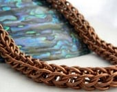 BRONZE - Full Persian Chain Maille Necklace made of Bronze, Chainmaille is a wonderful gift for anytime and for everyone...