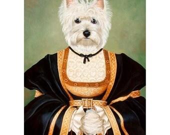West Highland Terrier, Westie Prints, Queen Morgan, Dog Art Print