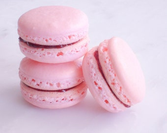 French Macaron Cookies 12 Strawberry Basil Macaroons Gift Splendid Sweet